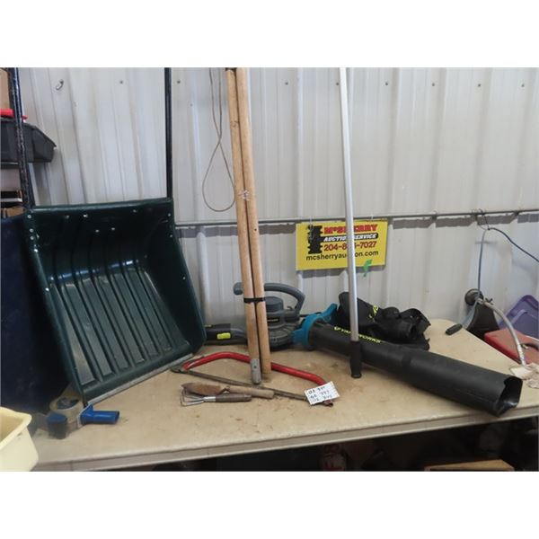 Snow Scoop, Yardworks Blower, Rook Rake, Tree Branch Cutter, Plus More!