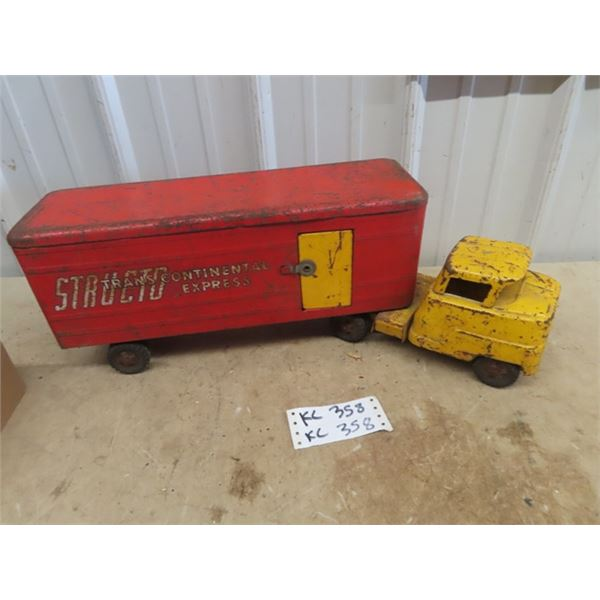 Structo Pressed Metal Truck & Trailer - Transcontinental Express
