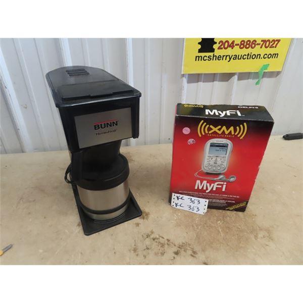 New My Fi - XM Satellite Radio & Bunn Coffee Machine