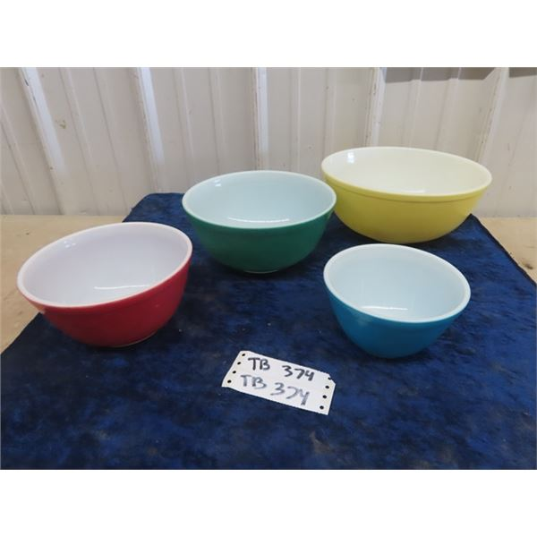 Primary Color Pyrex Mixing Bowls
