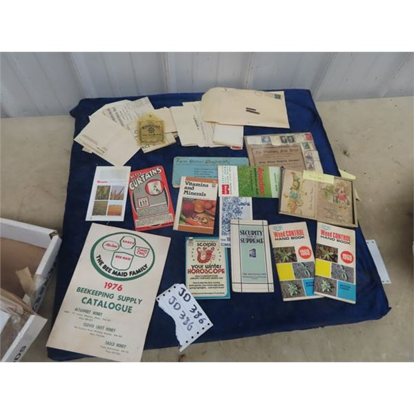 Various Stationary 1930's & UP Adv Pamphlets - 1950's Postcards