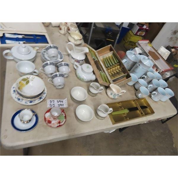 Tea & Coffee Set, & Knife Set Plus!
