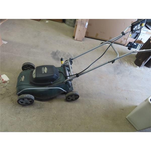 """Yardworks 14"""" 8A Push Elec Mower"""