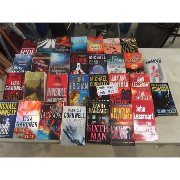 (MB) Approx 30 Covered Mystery Books