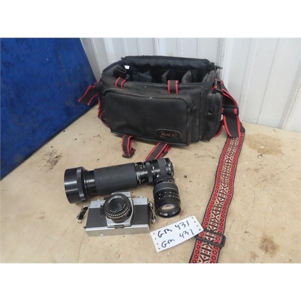 Praktica L Camera w Extra Lenses