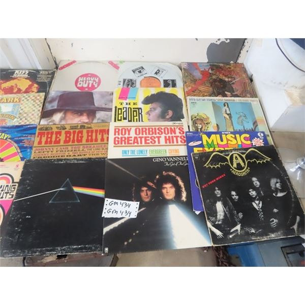 Approx 42 Records Various Artists - Lots of Rock & Roll, Elton John, Beatles, KISS, Prism, Plus More