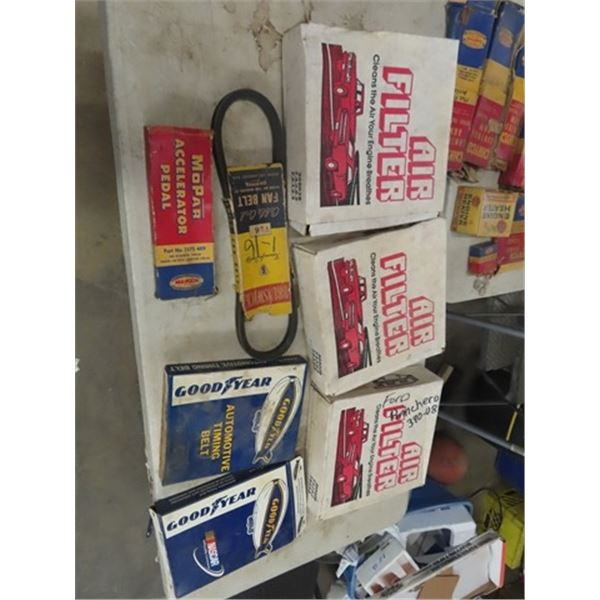 New Old Stock Auto Parts, Air Filter, Fan Blet, Timing Belt , Plus