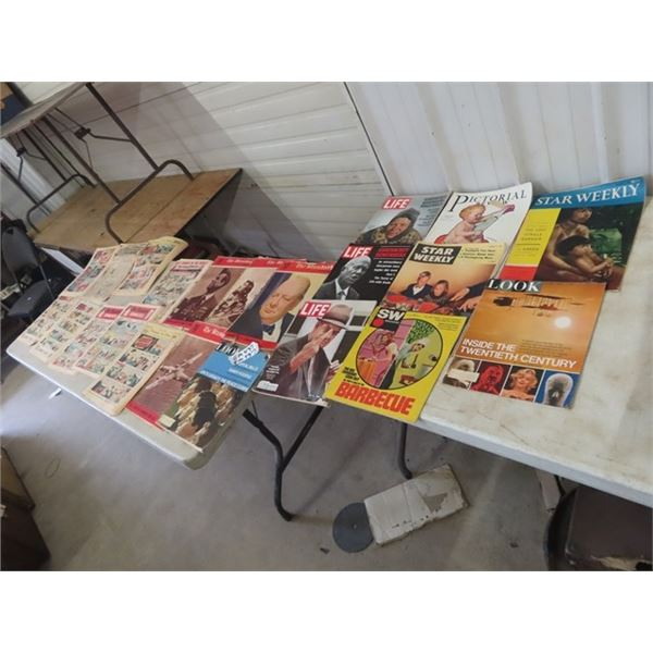 Approx 22 Magazine & Comics, Star Weekly, Life,SW  Magazine, The Standard Comics, Tribune Comics Plu