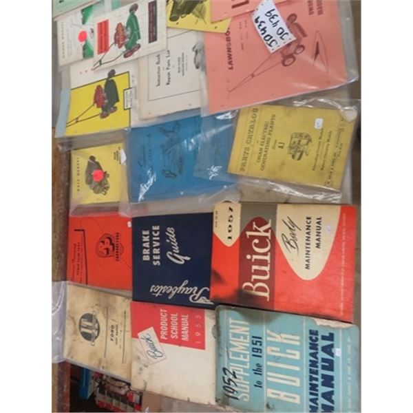 Manuals, 51, 55, 57 Buick , Ford  Tractor 8 N, Small Engine, Plus More
