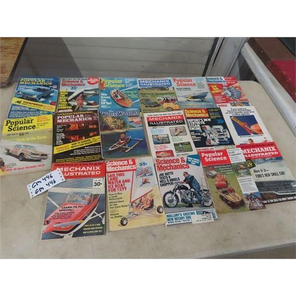 Approx 17 Popular Mechanics Magazines 1960's