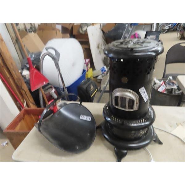Old Kerosene Heater & Log Holder
