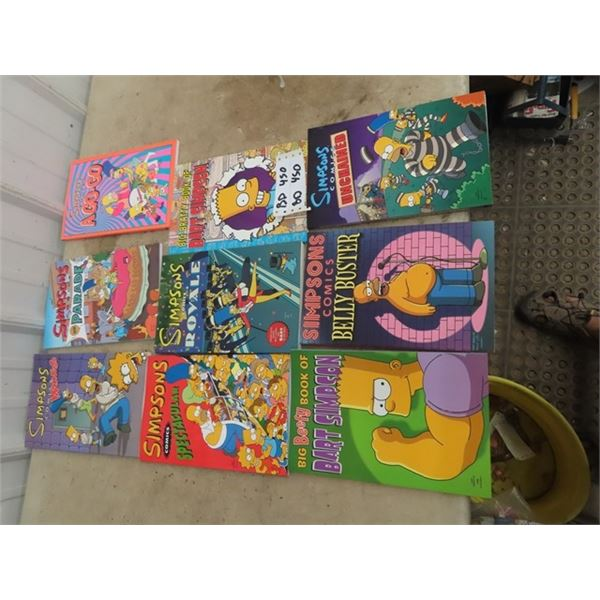 9 Thick Collectors Edition Simpson Comics