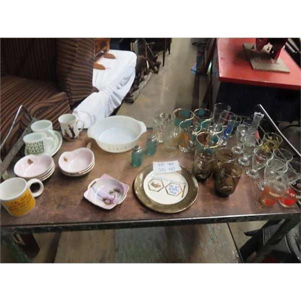 Fire King Cups, Glassware, Noritake