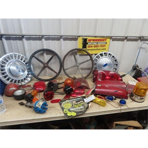 Steering Wheels, Various Auto Lights, Disributors Plus More!