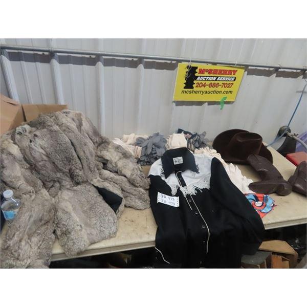 Fur Jackets, Western Wear, 50 Pairs of Gloves