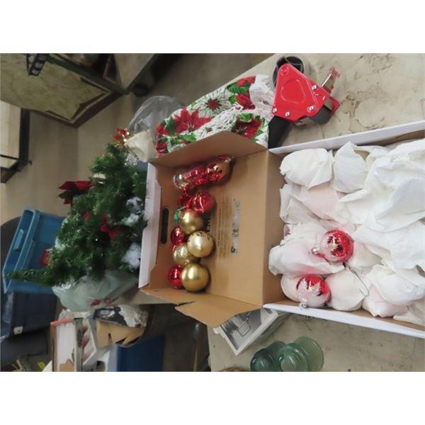 Christmas Bulbs, & Decorations, Coffee Grinder, Ashtray, & Fish Ornaments