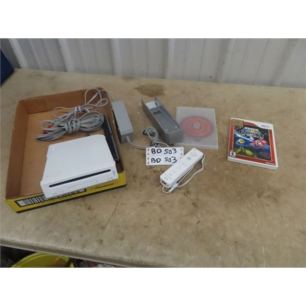 Wii System- Works Great! w 2 Controllers & 2 Games