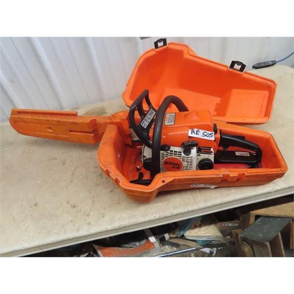 (RE) Stihl 018 Chainsaw w Case