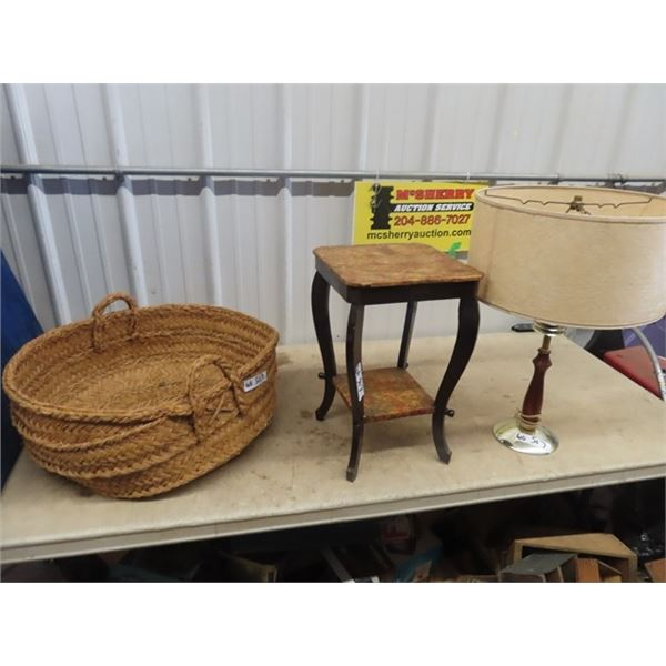Weaved Baskets, Stand & Lamp