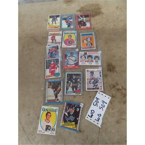 Approx 15 Hockey Cards, Including 89 Wayne Gretzky