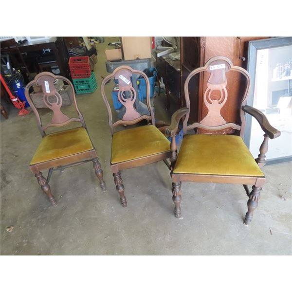 (CD) 3 Wooden DR Chairs