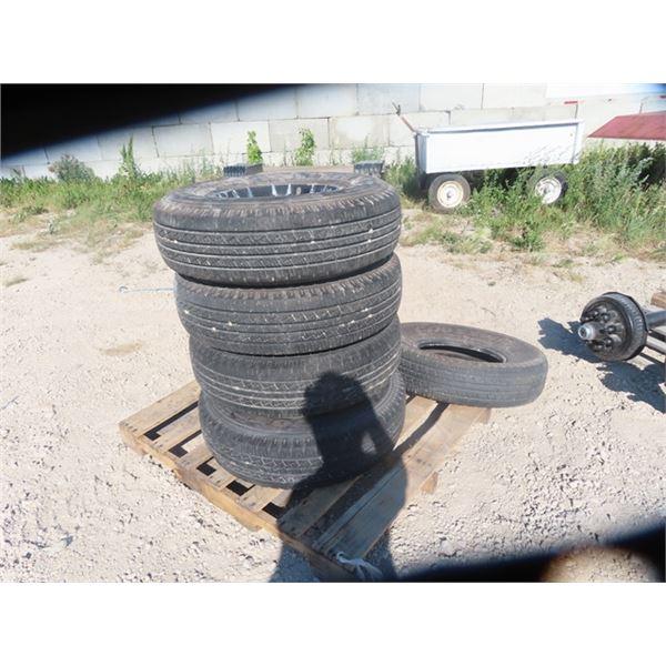 5 Tires & Rims- Crosswind 235/85 R 16 - 14 Ply
