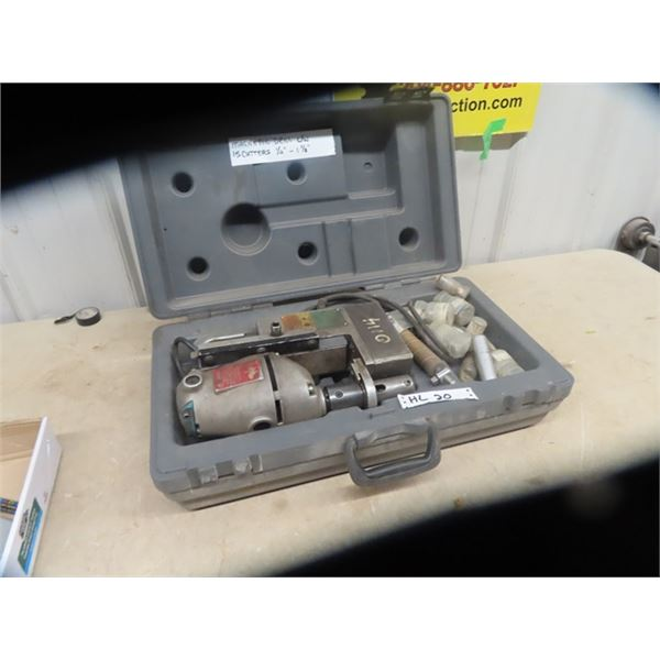 """""""SLugger"""" Magnetic Drill w Case & 15 Cutters 1/2"""" to 1 1/8"""""""