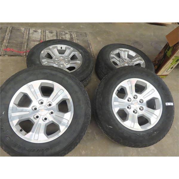Set of 4 Goodyear Wrangler & Chev Rims P265/65R 18 - Good Tires