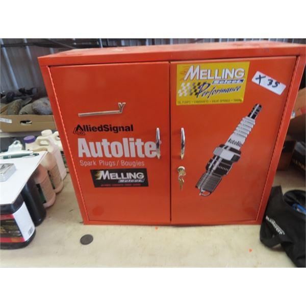 """Metal 2 Door Auto Light Garage Cabinet 23"""" x 26"""" x 10"""""""
