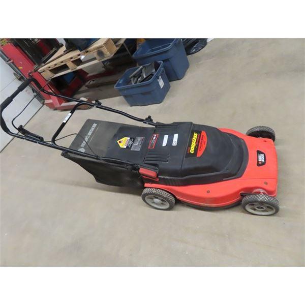 "B & D 24 Volt 19"" Mower w Bagger & Charger"