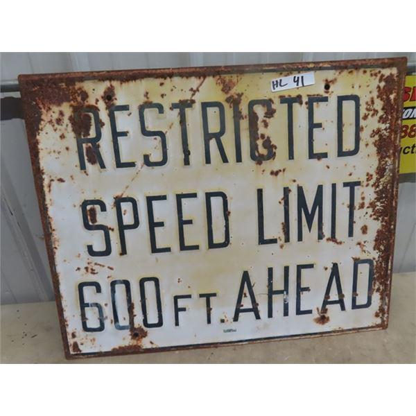 "Metal Embossed Speed Limit Sign 24"" x 30"""