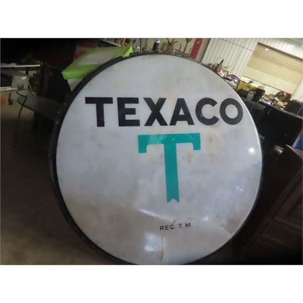 "Plastic Texaco Lens/Sign 72"" Rd"