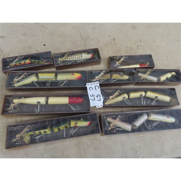 """10 Muskee Lures 5) 12"""" Long  & 5) 8"""" Long w Package"""