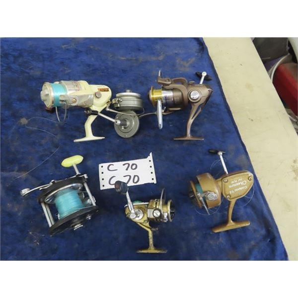 6 Fishing Reels - Browning Stalker Gold Mitchell 850 , Compac 94, DAIWA Mini Mite, Luxor Desserrage,