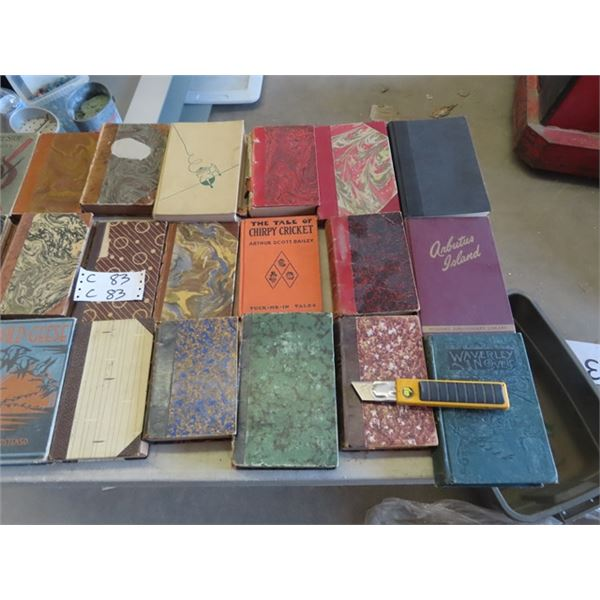 Approx 40 Old Books , Trapping Guide Plus More!