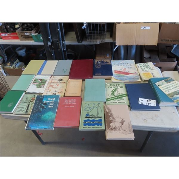 Approx 38 Books - Fishing, Hunting , Wildlife, Plus More!