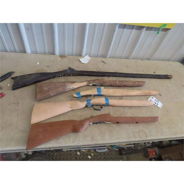 5 Wooden Gun Stocks