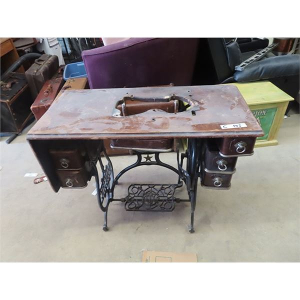 Domestic Cabinet Sewing Machine, - Good For Repurpose for Case Base to Make a Stand