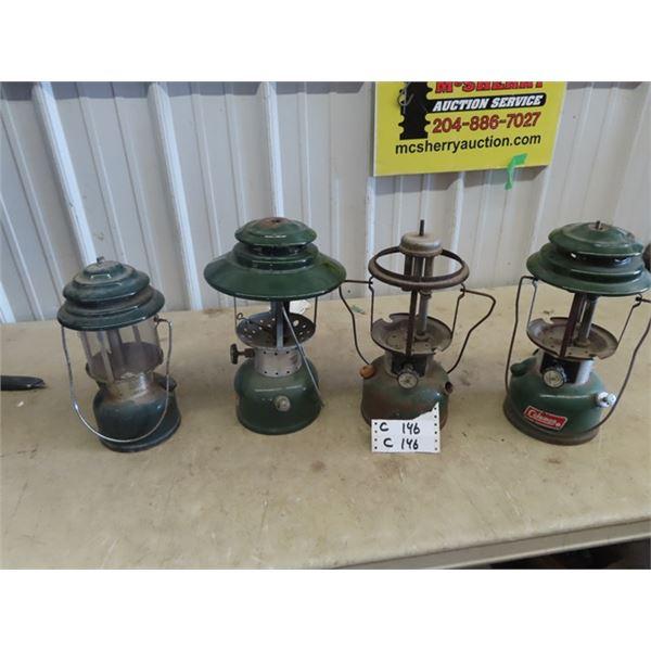 Coleman Lanterns - 1 is Mdl 288, 228F, 228H - No Top, & Mdl 220 J