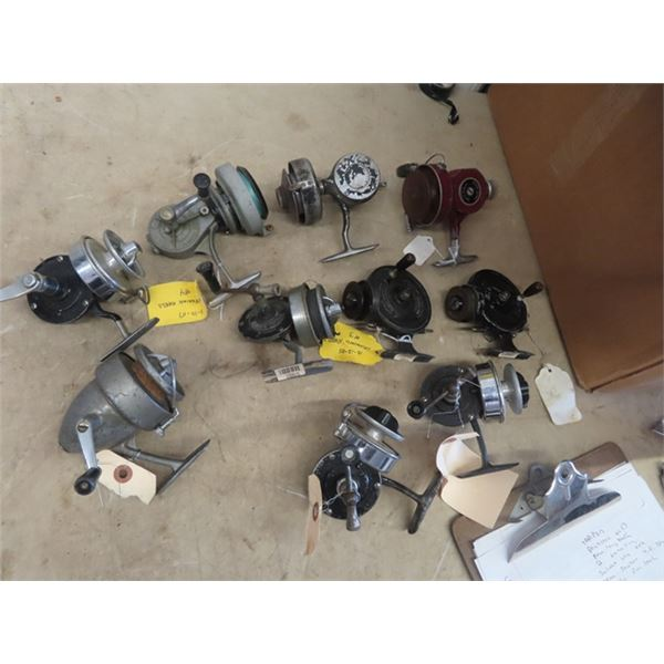 10 Spinner Fishing Reels 2) Alcock Stanley Reel, 1) Thommen Record, 4) Bache Brown #2 & #3, 1) Staro