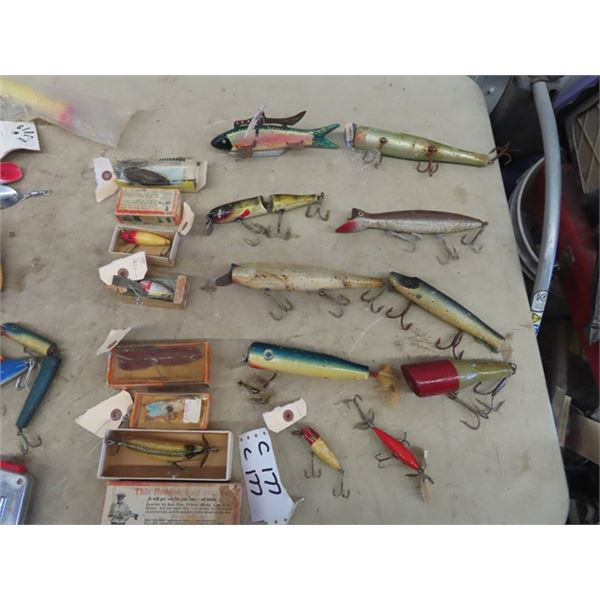Approx 16 Lures , 6 Have Packages, Approx 10 Are Vintage Wooden Ones