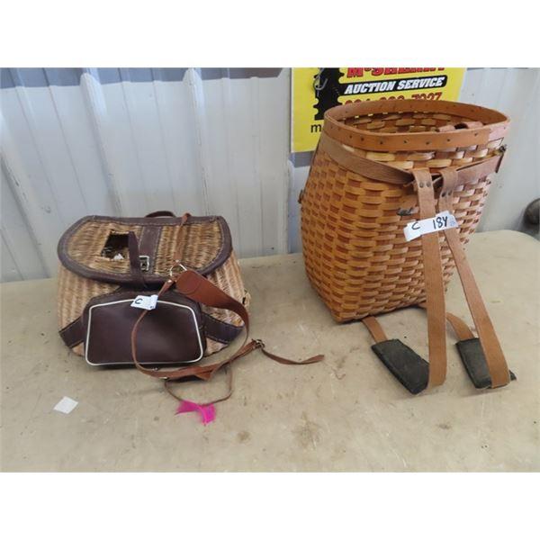 Fishing Kreal, & Basket Style Back Pack