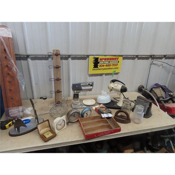 Sunbeam & Hamiliton Bread Maker, Coat Hooks, Alarm Clocks, Sealers, Clothes Pins, Plus