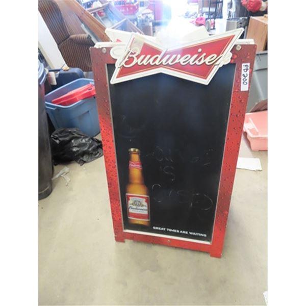"""Budweiser Sidewalk Menu Board - 2 Sided 24"""" x 40"""""""