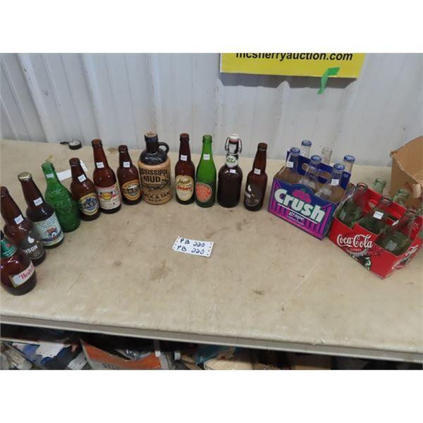 Old Beer Bottles, Pop Bottles & Carriers