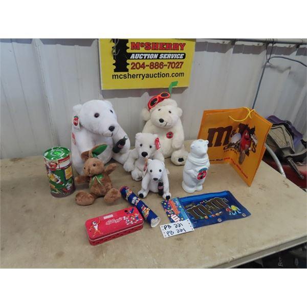 Coca Cola Bears, M& M Collectibles