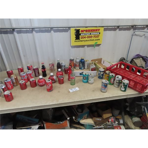 Coke Bottles & Cars - Variety of Beer Cans