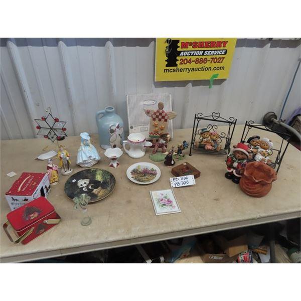 Figurines, - Christmas, Collector Plate, Shaving Mug Plus More!