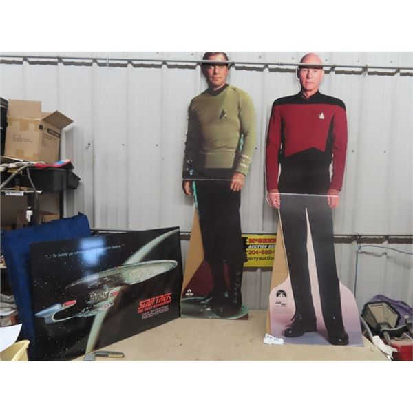 Star Trek Light Up Picture, 2 Cardboard 6' Movie Theatre Displays