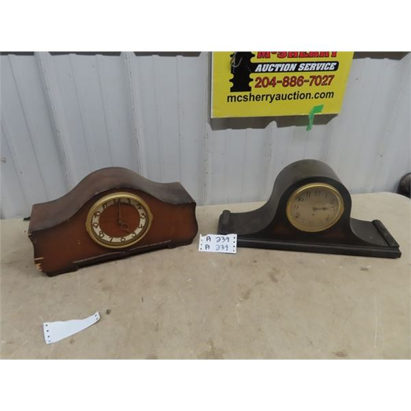 2 Mantle Clocks- Seth Thomas, 1 Is Missing Face Glass